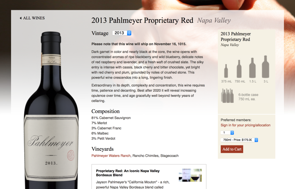 pahlmeyer wine detail ecommerce
