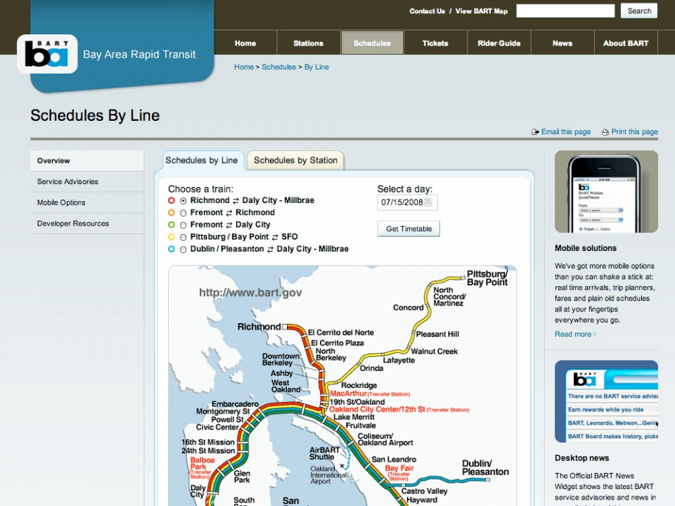 BART Schedules By Line 4x3